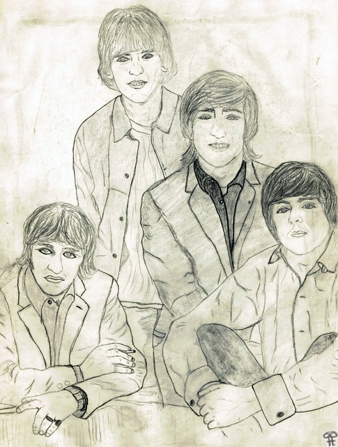 sketch of the Beatles